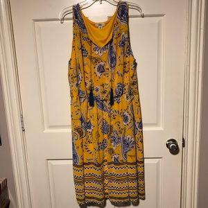 Yellow Print Cato Dress